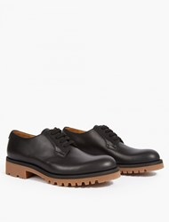 Valentino Contrast Sole Leather Derby Shoes