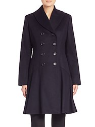 Sofia Cashmere Wool And Princess Coat Navy