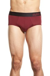 Men's Naked Tencel Blend Briefs Zinfandel Black