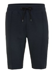 Topman Religion Navy Woven Long Length Shorts Blue