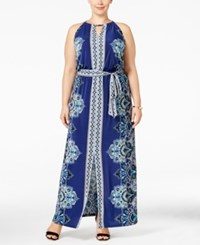 Inc International Concepts Plus Size Printed Maxi Dress Only At Macy's Supreme Paisley