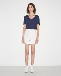 Alexander Wang Cotton Twill Skirt Ivory