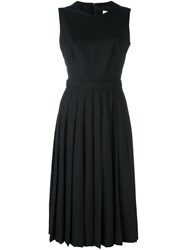 Comme Des Garcons Noir Kei Ninomiya Apron Pleated Sleeveless Dress Black