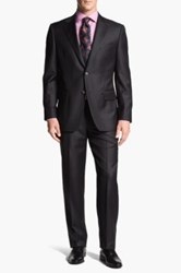 Joseph Abboud 'Signature Silver' Wool Suit Gray