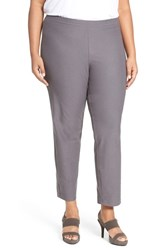 Eileen Fisher Plus Size Women's Washable Stretch Crepe Slim Leg Ankle Pants
