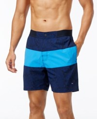 Tommy Hilfiger Men's Thaxton Board Shorts Peacoat