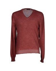 Allegri Knitwear Jumpers Men Maroon