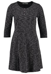 Twintip Jersey Dress Black Melange Mottled Black