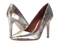 Cole Haan Emery Pump 100 Mirror Marble Print Women's Slip On Dress Shoes Silver