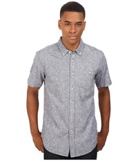 Obey Holden Woven Short Sleeve Navy Men's Clothing