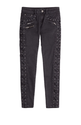 The Kooples Skinny Jeans With Lace Up Trim