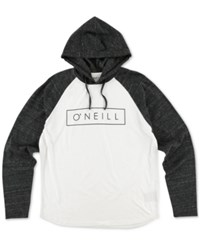 O'neill Men's Running Graphic Print Logo Hoodie White