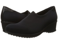 La Canadienne Fay Black Micro Leather Women's Wedge Shoes