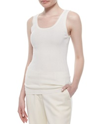 Magaschoni Ribbed Scoop Neck Tank