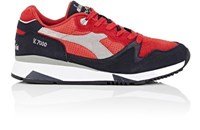 Diadora Men's V7000 Suede And Leather Sneakers Red Navy Grey Red Navy Grey