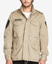 Denim And Supply Ralph Lauren Men's Field Jacket Beige Khaki