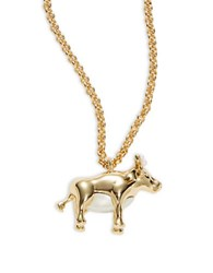 Kate Spade Spirit Animal Bull Pendant Necklace Gold
