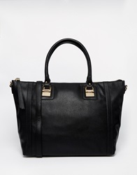 Warehouse Metal Plate Shopper Black