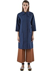 Yang Li Technical Long Trench Coat Navy