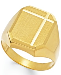 Macy's Men's Polished Ring In 14K Gold