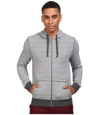 Original Penguin Space Dye Hoodie Griffin Men's Sweatshirt Gray