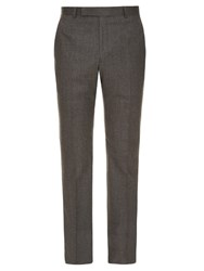 Gieves And Hawkes Slim Leg Wool Trousers Light Grey