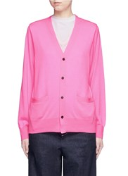 Toga Archives Layered Wool Cardigan Sweater Pink