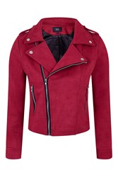 Lone Rider Red Faux Suede Jacket By Goldie