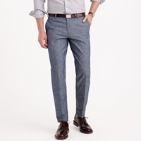 J.Crew Ludlow Suit Pant In Japanese Chambray