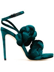 Marco De Vincenzo Ankle Strap Stiletto Sandals Green