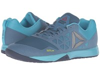 Reebok Crossfit Nano 6.0 Slate Crisp Blue Lemon Zest Blue Ink Pewter Women's Cross Training Shoes
