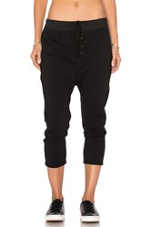 James Perse Slouchy Collage Sweatpant Black