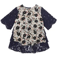 Finery Selby Lace Back Scratchy Floral T Shirt Multi