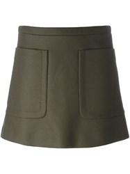 N 21 No21 Patch Pocket Mini Skirt Green
