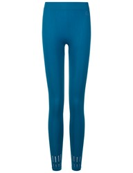 Pepper And Mayne Teal Seamless Cut Out Leggings Blue
