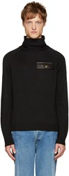 Versus Black Pocket Turtleneck
