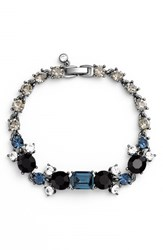 Women's Kent And King Jeweled Line Bracelet Hematite Jet Montana