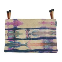 Kin Lab Collective Leather Tie Dye Clutch Multi