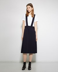 Comme Des Garcons Girl Pleated Apron Skirt Navy