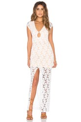 Nightcap Teardrop Lace Maxi Dress White