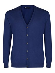 Aquascutum London Chadwick Merino Cardigan Blue