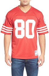 Mitchell Ness 'Jerry Rice' Replica Jersey Dark Red