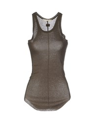 Gold Case Sogno Topwear Vests Women Military Green