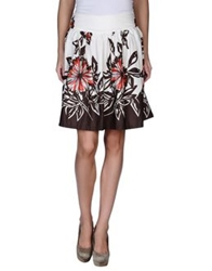 Pam And Arch Knee Length Skirts Ivory