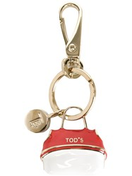 Tod's 'Wave' Keyring Red