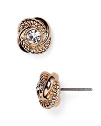 Kate Spade New York Infinity And Beyond Knot Stud Earrings Rose Gold