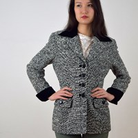 Georges Rech 1980S Mottled Tailored Jacket
