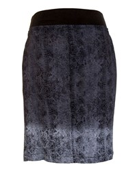 Xcvi Olga Dip Dye Zip Front Pencil Skirt Black