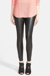 Hue Faux Leather Leggings Black