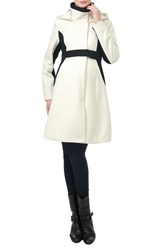 Kimi And Kai Women's 'Maddy' Colorblock Maternity Coat White